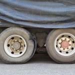 Burst tire truck — Stock Photo #33248417