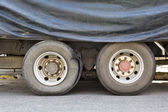 Burst tire truck — Stock Photo