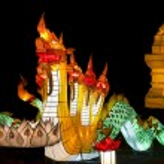 Naga lantern in Yee-peng festival ,ChiangMai Thailand — Stock Photo #35395845