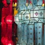 Paper lanterns in Yee-peng festival ,ChiangMai Thailand — Stock Photo #35814447