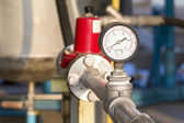 Pressure gauge at a natural gas purification plant — Stock Photo
