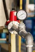 Manomètre à une usine de gaz naturel — Photo