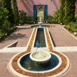 Moroccan style fountain in park — Stock Photo