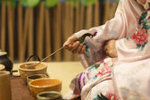 Japanese tea ceremony culture east beverage — Stock Photo