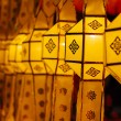 Floating asian lanterns in Yee-Peng festival ,Chiang Mai Thailand — Stock Photo #48015835