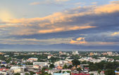 Evening with vivid cloud in outskirt Chiang Mai city , Thailand — Stockfoto