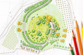 Landscape Design Plan — Stockfoto