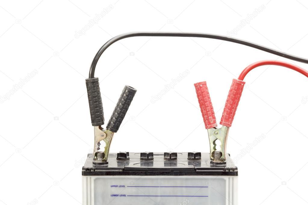 bilbatteri med startkablar stockfotografi toa55 50962009. Black Bedroom Furniture Sets. Home Design Ideas