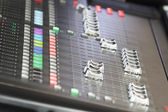 Audio mixer audio in concerto — Foto Stock