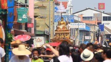 チェンマイのソンクラーン祭り. — ストックビデオ