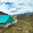 Stock Photo: Travel camp tents in mountains