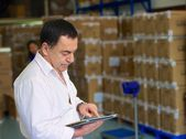 Manager on the warehouse — Stockfoto