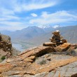 Mountain view from peak in Spiti valley — Stock Photo