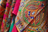 Beautiful Indian pattern scarf — Stock Photo