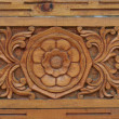 Indian wood ornament of door fragment — Stock Photo
