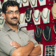 Stock Photo: Seller of jewelry shops in India