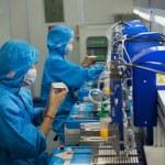 Science factory china production LED technology — Stock Photo