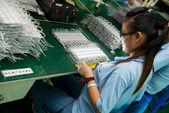 发光二极管测试在深圳厂 — 图库照片