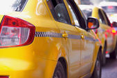 Taxi yellow cab — Stock Photo