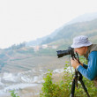Man with camera take travel photo  — Stock Photo