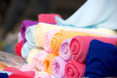 Colorful fabric towels — Foto Stock