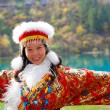 Beautiful asian young woman in Chinese dress — Stok fotoğraf