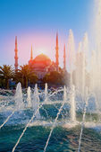 Sultanahmet Mosque and fountain — Stock Photo