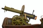 """Vintage gun """"Maxim"""" on """"tachanka"""" - weapon of the last century revolution in Russia — Stock Photo"""