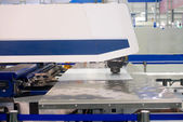 High precision CNC sheet metal stamping and punching machinery — Stock Photo
