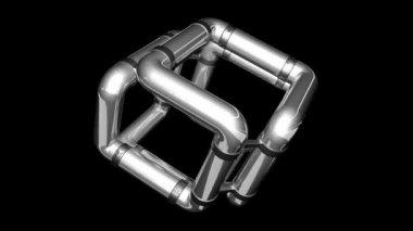 Cube-tube — Stock Video