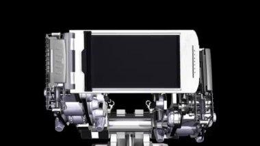 Mechanical frame — Stock Video