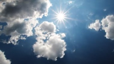 Sunny blue sky — Stock Video