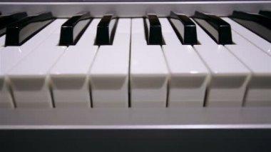 Piano keyboard — Stock Video