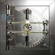Stock Photo: Bank vault door