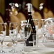 Stock Photo: Fine Crystal Table Setting at Restaurant