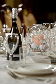 Fine Crystal Table Setting at a Restaurant — Stockfoto