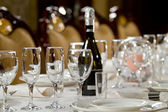 Fine Crystal Table Setting at a Restaurant — Stock Photo