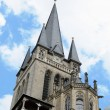 Tower of cathedral in Aachen, Germany — Stock Photo