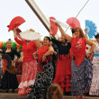 Unidentified performers show Spanish dance during EuroFeriAndaluza — Stockfoto #12284061