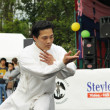 Unidentified performer show martial arts exercise during Asia & U festival — Stock Photo #12284171