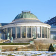 Center of Botanique parc in winter Brussels, Belgium — Stock Photo