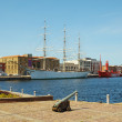 Museum ships in port prepared to accept public on June 2, 2011 in Dunkerque. — Stock Photo