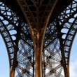 Details of Eiffel tower base under evening light, Paris, France — Stock Photo #12284855