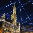 Night illumination of Grand Place in Brussels, Belgium — Stock Photo