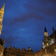 Stock Photo: Night illumination of Grand Place in Brussels, Belgium