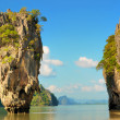 Stock Photo: James bond island and surrounding rocks.