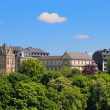 Panorama of summer Luxembourg city - Stock Photo