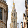 Stock Photo: Medieval gothic architecture of Grand place in Brussels morning view from street