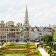 Thousands of tourists in open season coming to Mont des Arts — Stock Photo
