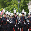 Stock Photo: Belgicadets participate in Military Parade during National Day of Belgium